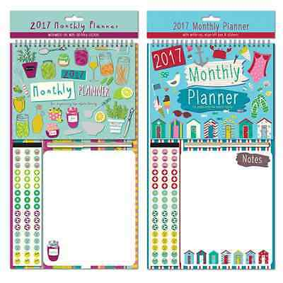 2017 Family Organiser Planner Calendar with Write on Off Memo Pad & Pen Stickers