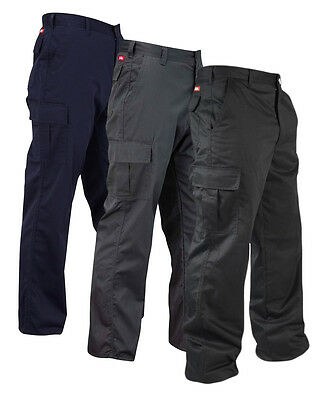 Lee Cooper Mens Cargo Work Trousers Combat Pants Multiple Pockets (LCPNT205)