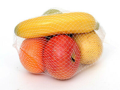 Artificial Fruit Pack of 5 Assorted Pear Banana Orange Red and Green Apple