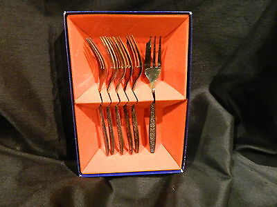 Wiltshire Silver Plate Bouquet 6Pce Fruit/cake Forks