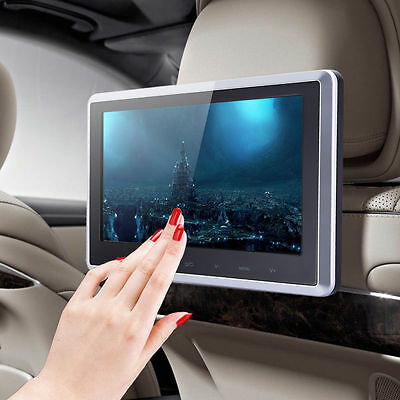 """10.1"""" TFT LCD Car Touch Button Headrest Monitor DVD USB SD Player HD 1024*600"""