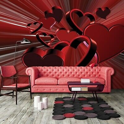 vlies fototapete fototapeten tapeten herz liebe rot abstraktion 3d 14n277vexxxl eur 31 43. Black Bedroom Furniture Sets. Home Design Ideas