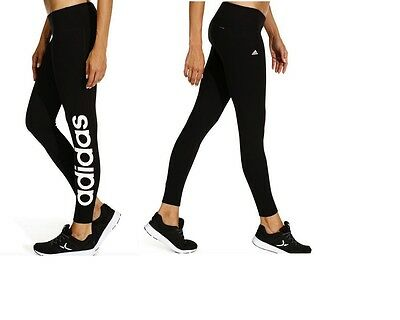 Adidas  Cotton Ladies Fitness Gym Leggings Black New
