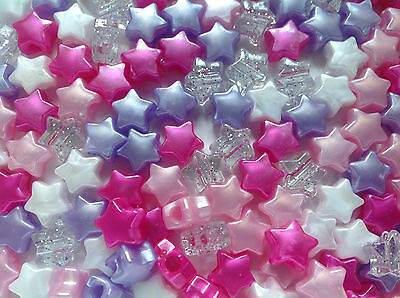 Little Princess Star Shaped Pony Bead Mix - 13mm - Ideal For Dummy Clips