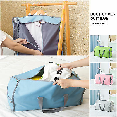 Suit Dress Coat Garment Storage Travel Carrier Bag Cover Hanger Protect Duffel