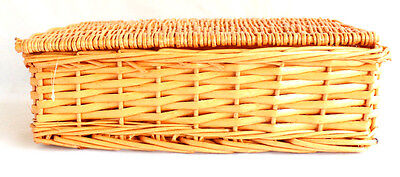ARBORIA- Wicker Picnic Basket - Storage Hamper - Christmas Gift Box with Handles