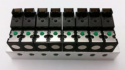 8 Solenoid Valves with Manifold, DC12V