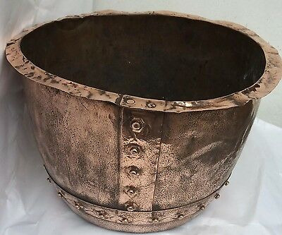 Victorian Original Copper,Copper Garden Rivets Planter Pot,Indoor/Outdoor