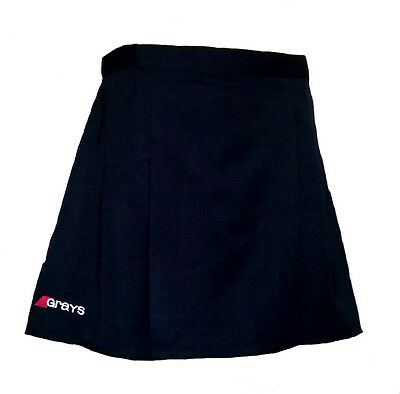 "Womens 28"" GRAYS Skirt BLACK Hockey Netball Tennis Blue"
