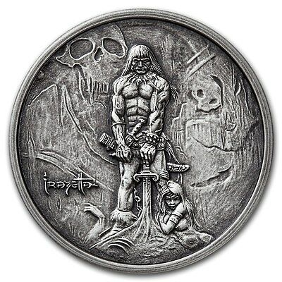 The Barbarian 1 oz .999 Silver Encapsulated Round USA Made Antiqued Finish Coin