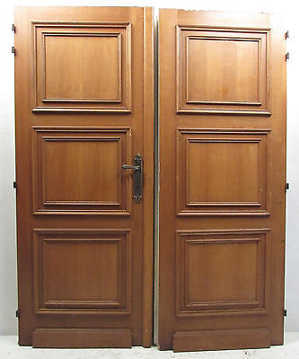 Pair of Vintage Antique Pitch Pine Doors (2977)NJ