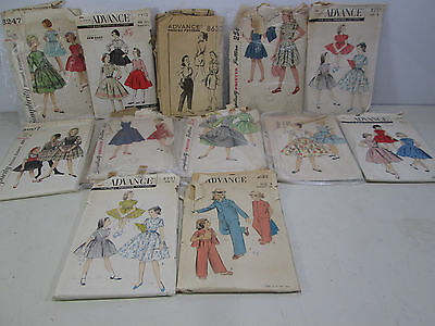 12 1950's Vintage Girls Size 8 to 12 Sewing Patterns