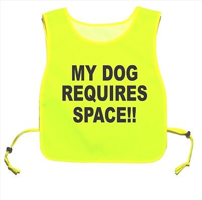 My Dog Requires Space!! Waterproof Yellow tabard Walking Training 05