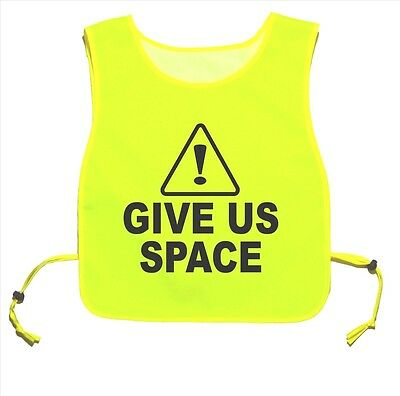 Caution Give Us Space Waterproof Yellow tabard Walking Training 06