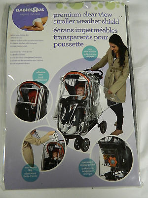 Nip Babies R Us Premium Clear View Stroller Weather Shield Reflective Trim