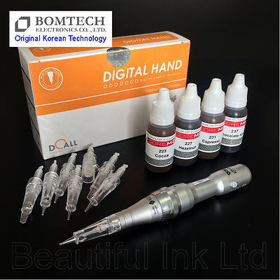 Permanent Makeup Micropigmentation Tattoo Starter Kit - Bomtech Digital Hand