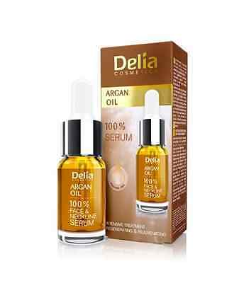 Delia INTENSIVE  Anti Age Serum Argan Oil Smooths Firms Face and Neckline 10ml