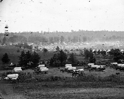 New 11x14 Civil War Photo: McClellan's Camp at Cumberland Landing, 1862