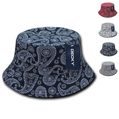 bfced983fd2 Decky Paisley Bandana Design Fitted Bucket Boonie Hats Caps Cotton 2 Sizes