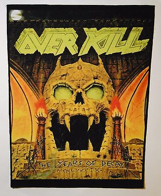 OVERKILL The Years Of Decay BACK PATCH printed NEW thrash metal