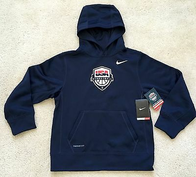 Nike Youth Navy Team USA Basketball KO Performance Hoodie (M) Sold Out!