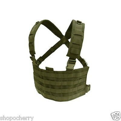 New OD Green Condor MCR4 OPS Chest Rig Tactical Modular Panel Map Pocket