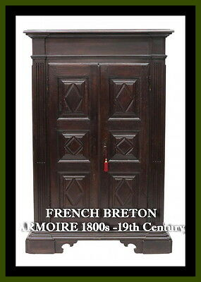 FRENCH BRETON ARMOIRE 1800s ( 19th century )
