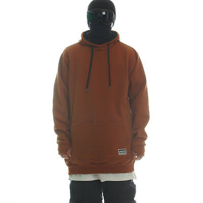 Ehoto Freeski & Snowboard HOODIE SIGNATURE LINE - PLAIN COPPER BROWN
