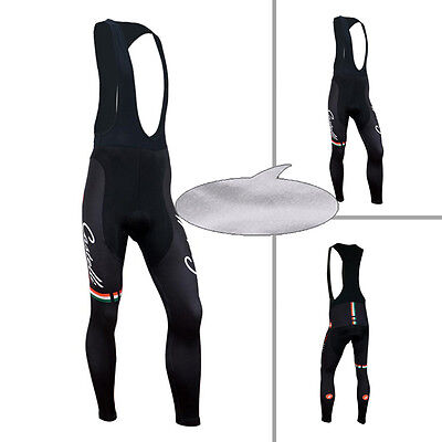 New Men's Bicycle Cycling Bike Tights Padded Winter Fleece Thermal Long Pants