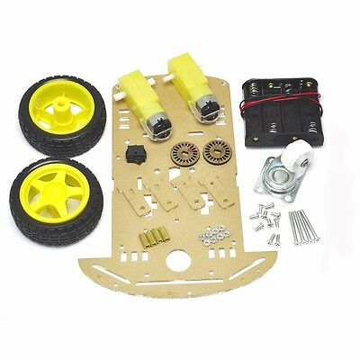 2WD Smart Robot Car Chassis DIY Kit Speed Encoder W/ Battery Box 2 Motor 1:48