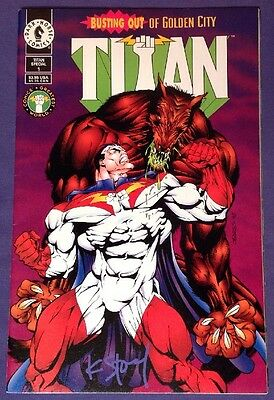 TITAN SPECIAL 1 June 1994 8.5-9.0 VF+/NM- DARK HORSE COMICS SIGNED BY KARL STORY