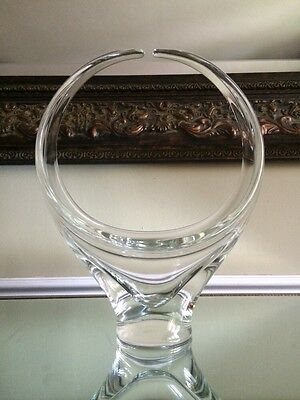 Chalet Glass Large Clear Basket Signed *REDUCED*