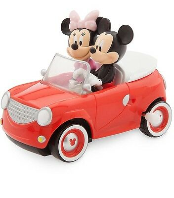 AUTHENTIC DISNEY Mickey and Minnie Mouse Wind-Up Car Toy NWT