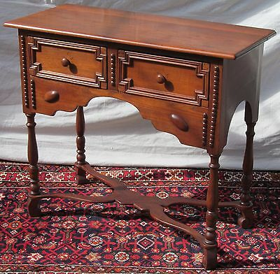 19Th Century William & Mary Styled Walnut Antique Console Table W/ Rare Carving