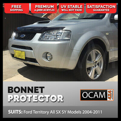 OCAM Bonnet Protector For Ford Territory All SX SY Models 2004-2011 Tinted