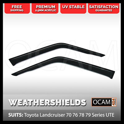OCAM Weathershields For Toyota LandCruiser 70 76 78 Series 2-pcs Window Visors