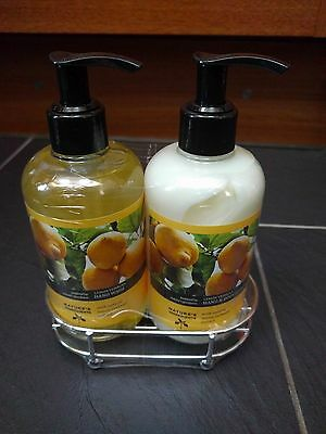 Marks & Spencer Lemon Hand Wash & Hand & Body Lotion 300Ml Each With Stand New