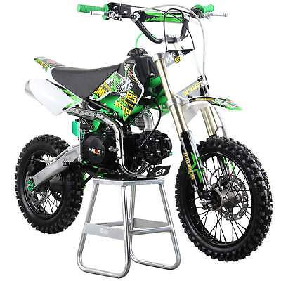 M2R Racing KXF125 120cc 76cm Green Red Blue Pit Bike Dirt Off Road 4 Stroke