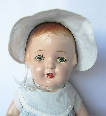 "GORGEOUS Circa 1930's ALL ORIGINAL 22"" Composition NANCY Mama Doll by Arranbee"