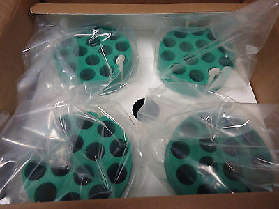 Case of 4 BECKMAN ADAPTERS, GREEN, 14 x 15ML CONICAL 359151