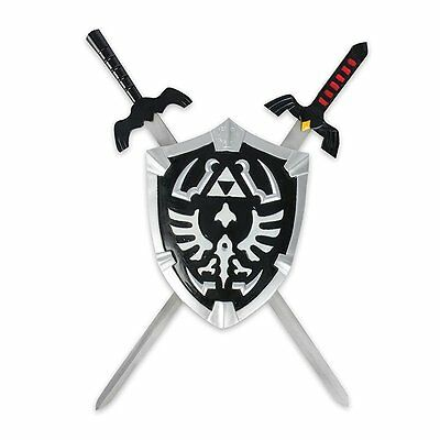 Breath Of The Wild Legend Zelda Twilight Princess Dark Link's Shield & 2 Sword