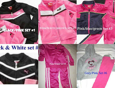 * NWT NEW GIRLS PUMA TRACKSUIT Tricot PANTS WINTER OUTFIT SET 12M