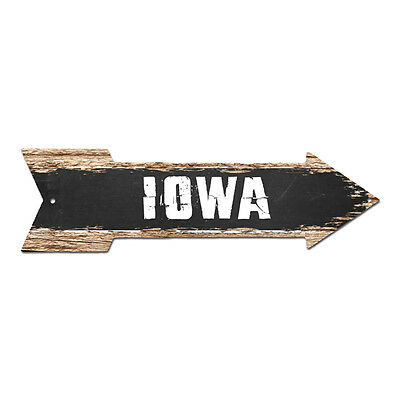 SP0063 Iowa Street Plate Sign Bar Store Shop Cafe Home Kitchen Chic Decor