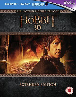 The Hobbit Trilogy Extended Edition  3-D - Blu-Ray - Region B Uk