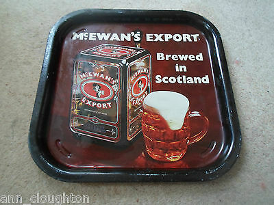 Vintage Beer Tray Advertising McEWANS EXPORT Brewed In Scotland - Retro Home Bar