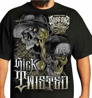 Dyse One Sick N Twisted Black T Shirt Skull Urban Streetwear Tattoo Graffiti Art