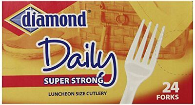 Diamond heavy Duty Plastic Forks, 24 Count