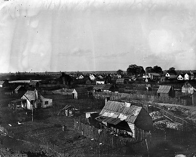 New 11x14 Civil War Photo: Town View of the City of Hampton, Virginia - 1864