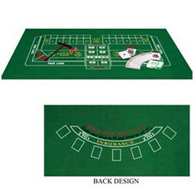 Party  Supplies Birthday Poker Casino Card Night Black Jack & Craps Set