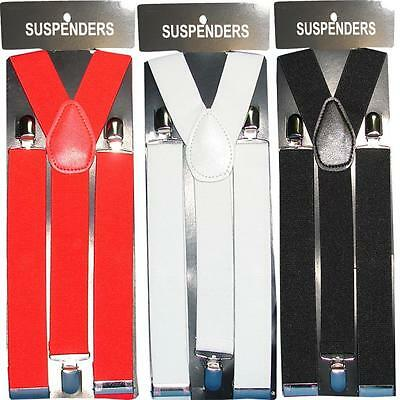 SUSPENDERS GENTS (MENS) 25MM/35MM WIDE ADJUSTABLE ELASTIC BRACES[Heavy Duty] UK
